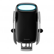 Baseus Milky Way automata telefontartó-vezeték nélküli töltő szellőzőrácsra (15W) - Ezüst