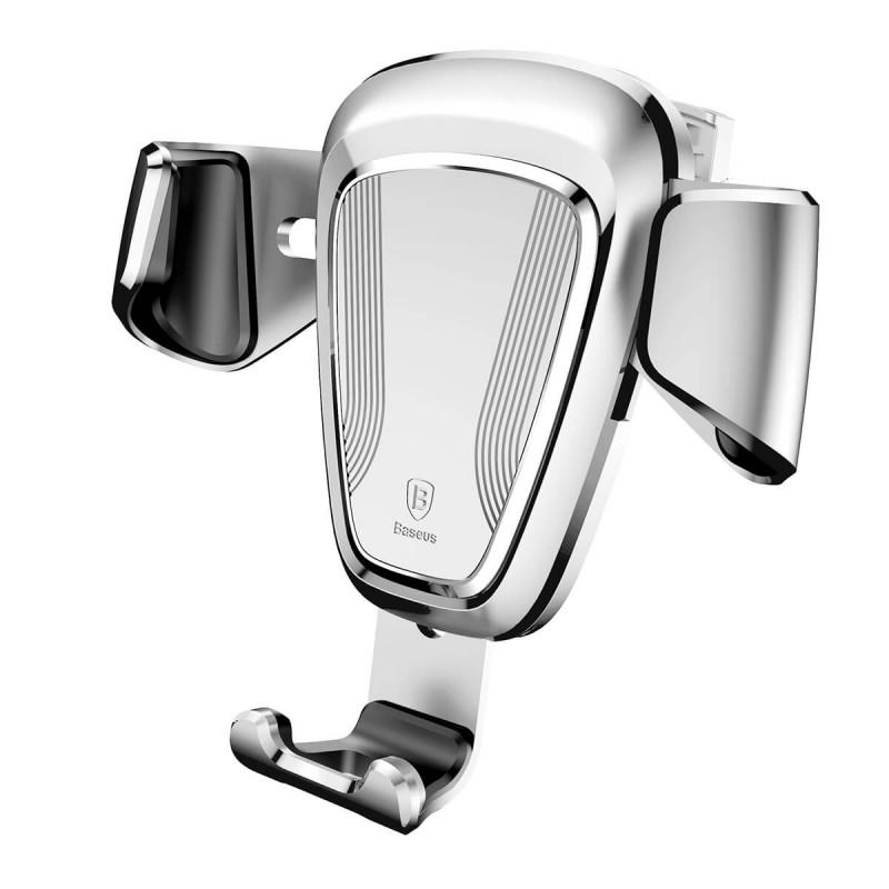 Gravity autós telefontartó szellőzőrácsra Baseus - Ezüst