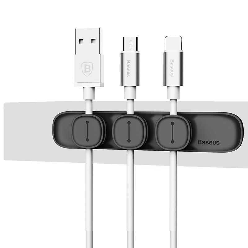 Peas Mágneses kábelrendező, fülhallgató tartó - Fekete