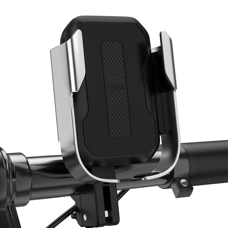 Biciklire szerelhető mobiltelefon tartó Baseus - Ezüst