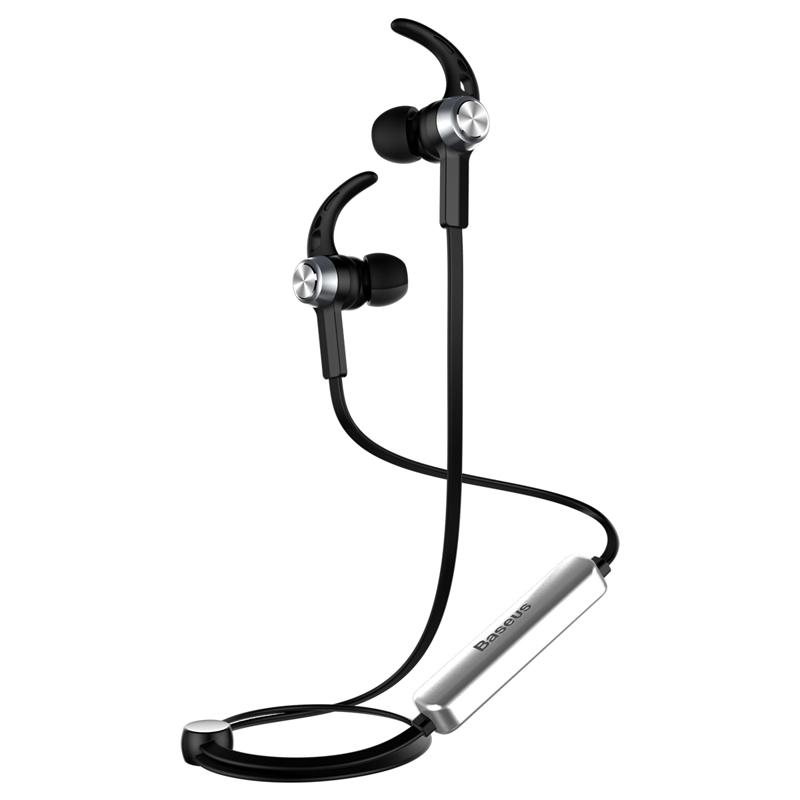 Licolor mágneses Bluetooth sztereó fülhallgató/headset Baseus - Ezüst/Fekete