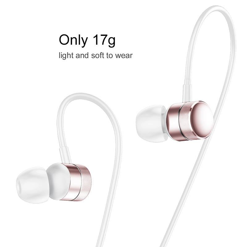 Baseus Encok H04 vezetékes fülhallgató/headset - Rosegold