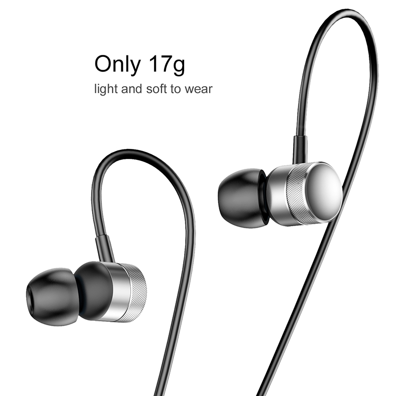 Baseus Encok H04 vezetékes fülhallgató/headset - Ezüst