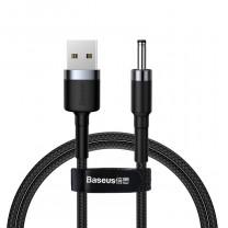 Baseus Cafule USB/DC 3.5mm töltő kábel 2A 1m - Fekete