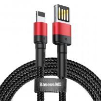 iPhone Lightning adat/töltőkábel 2,4A-1m Baseus - Fekete/Piros
