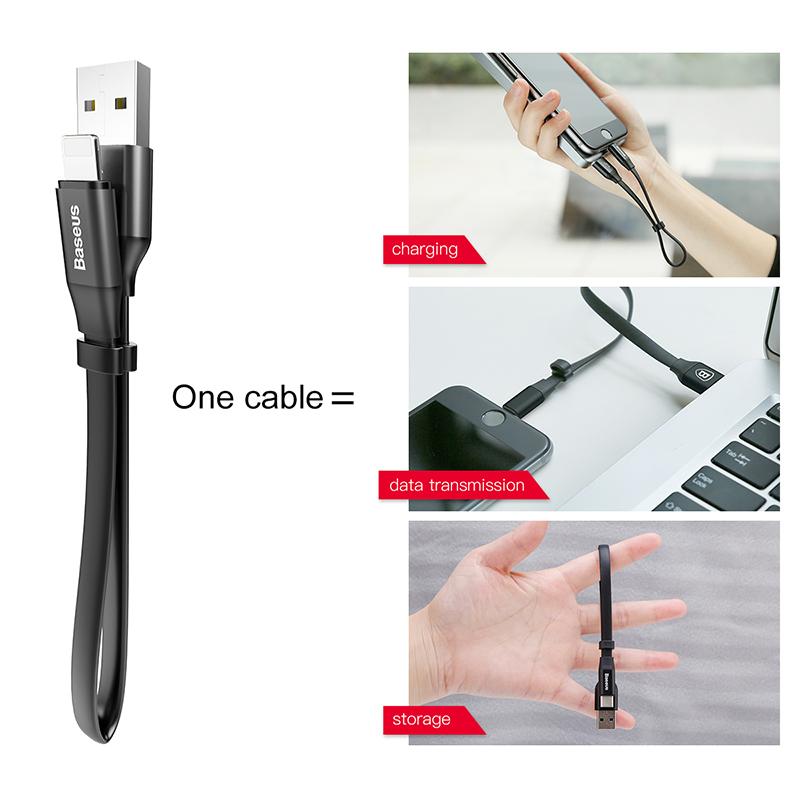 Baseus Nimble iPhone gyors adat/töltőkábel 23cm - Fekete
