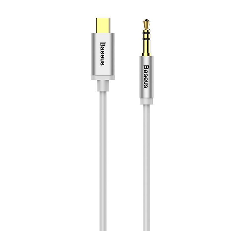 USB-C - 3,5 Jack összekötő audio kábel 1,2m Yiven M01 Baseus - Ezüst
