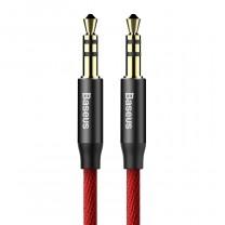 Audio kábel 1,5m Yiven M30 Baseus - Piros/Fekete