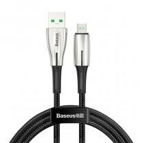 Baseus Waterdrop MicroUSB kábel 4A 1m - Fekete