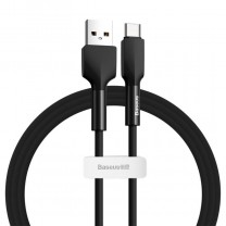 Baseus Silica USB-C adat/töltő kábel 3A 1m - Fekete