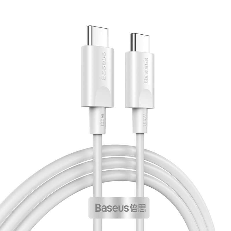 Xiaobai USB-C gyors töltő kábel 100W(20V/5A) 1.5m Baseus - Fehér
