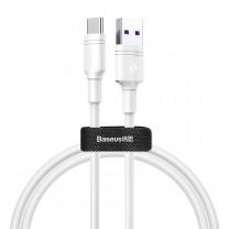 Double-Ring Huawei gyors töltő kábel USB-C 5A 2m Baseus - Fehér