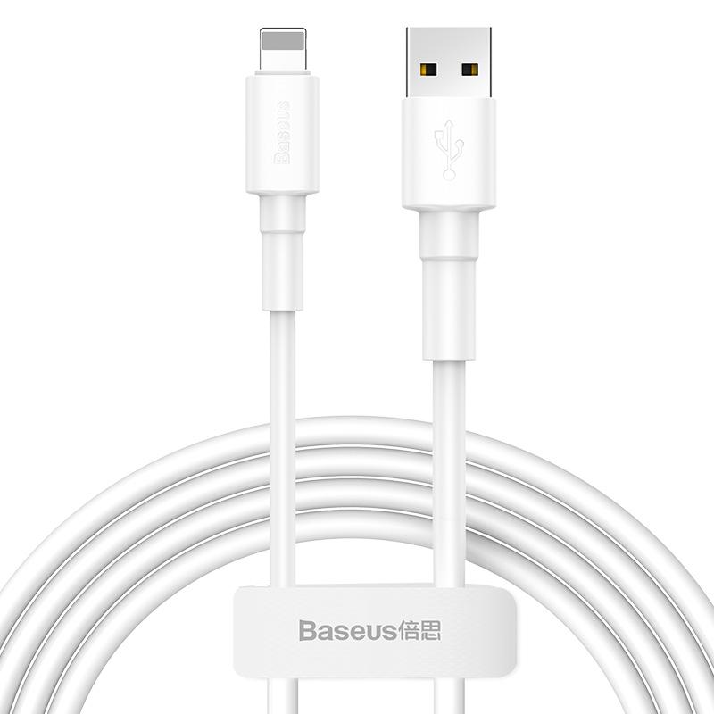 Baseus iPhone töltőkábel Mini White 2,4A 1m - Fehér