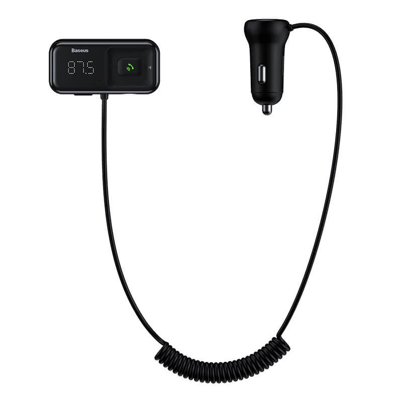 T Type S-16 vezeték nélküli Bluetooth MP3-lejátszó+2USB autós töltő Baseus  - Fekete