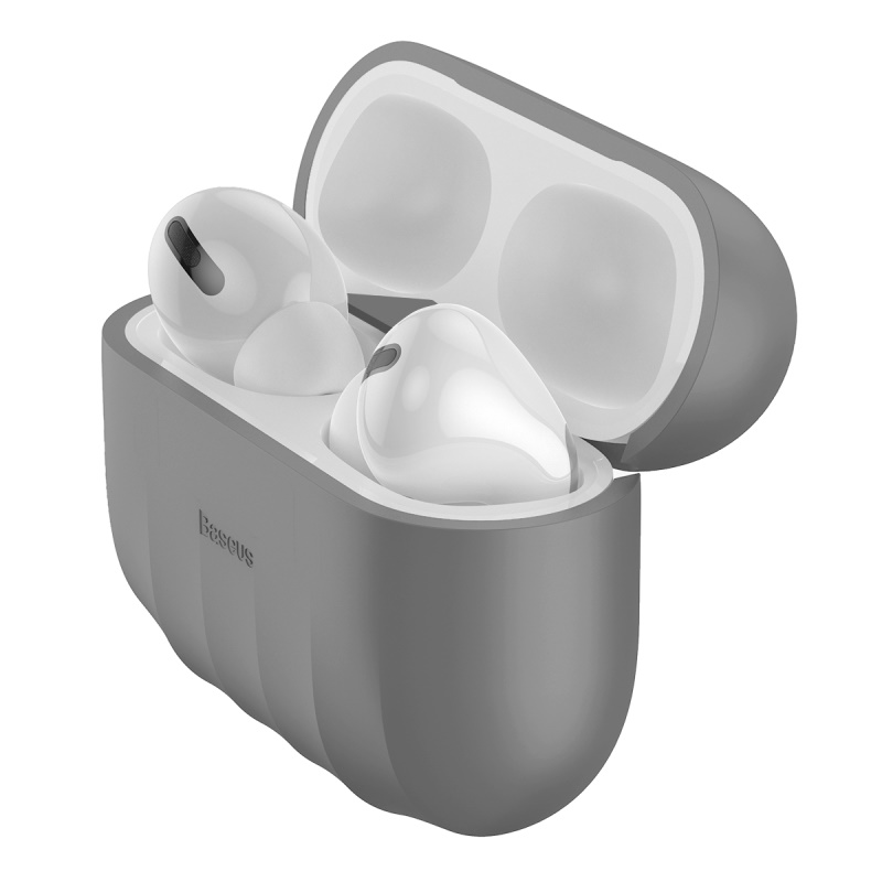 Baseus Shell Airpods Pro szilikon tok - Szürke