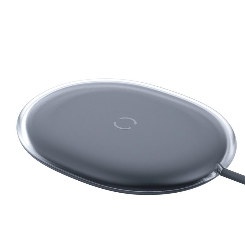 Baseus Jelly Qi vezeték nélküli töltő 15W USB-C kábellel - Fekete
