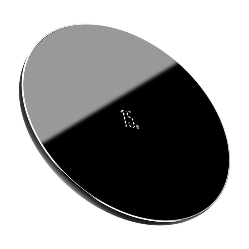 Simple vezeték nélküli gyors töltő (frissített verzió) Qi 15W Baseus - Fekete