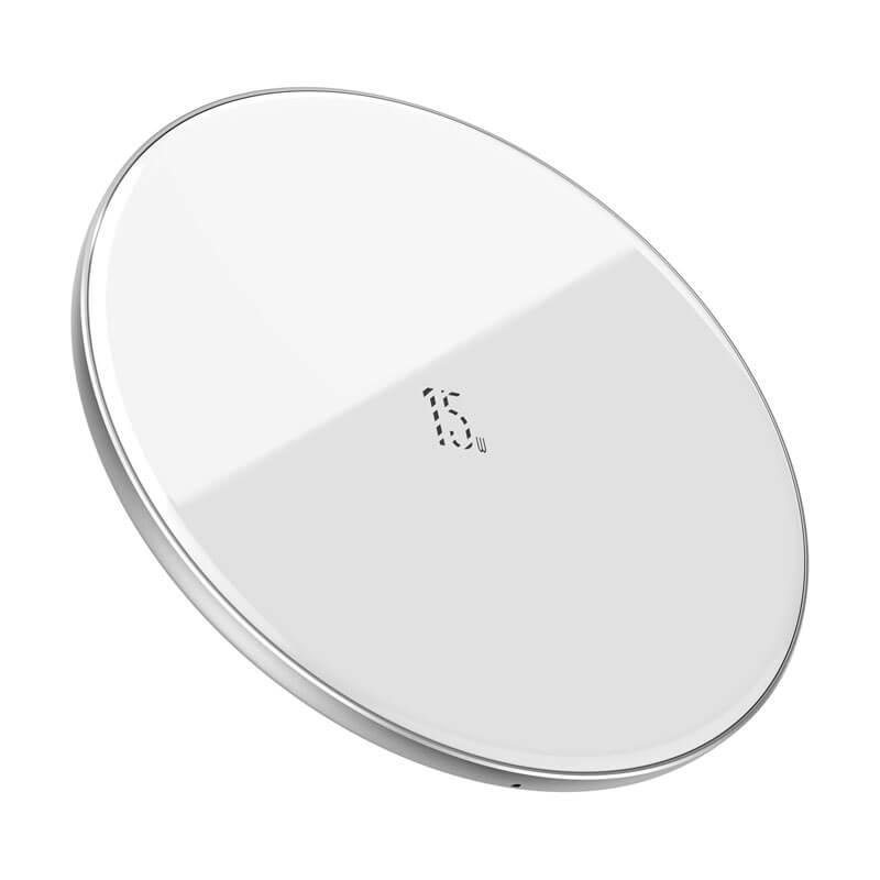 Simple vezeték nélküli gyors töltő (frissített verzió) Qi 15W Baseus - Fehér