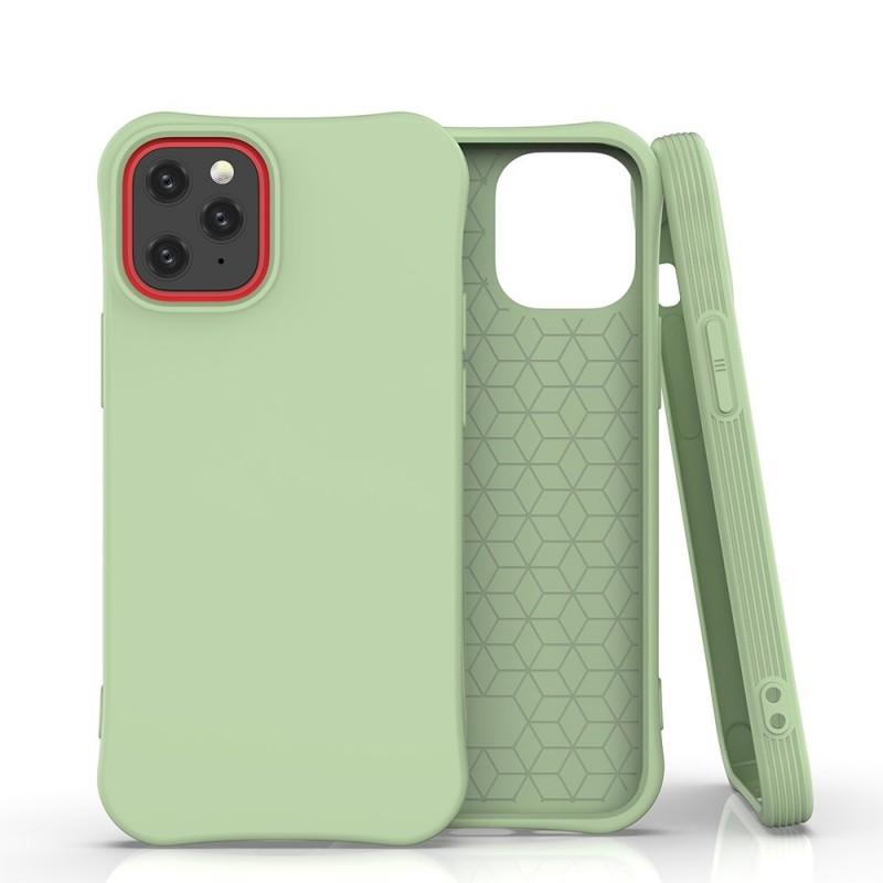 iPhone 12 Mini Soft Color flexibilis gél tok - Zöld