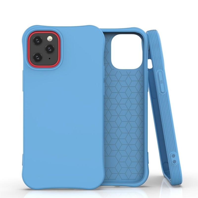 iPhone 12/12 Pro Soft Color flexibilis gél tok - Kék