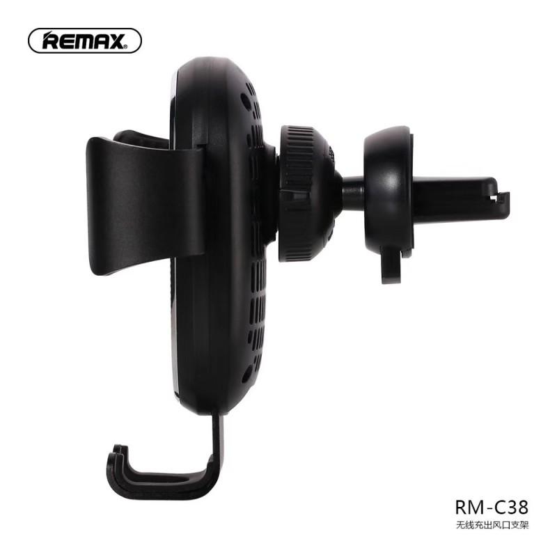 Vezeték nélküli gravitációs autós tartó RM-C38 szellőzőre Remax - Fekete