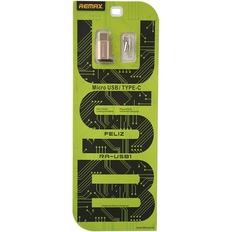 Remax Micro USB - Type-C adapter - Ezüst