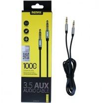 3.5 mm Aux audio kábel RL-L100 Remax - Fekete
