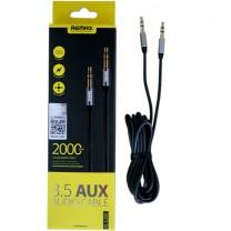 3.5 mm Aux audio kábel RL-L200 Remax - Fekete