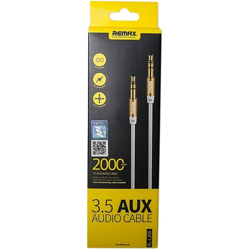 3.5 mm Aux audio kábel RL-L200 Remax - Fehér