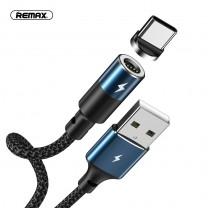 Mágneses USB-C adat/töltőkábel kerek csatlakozóval 3A 1m Zigie Remax