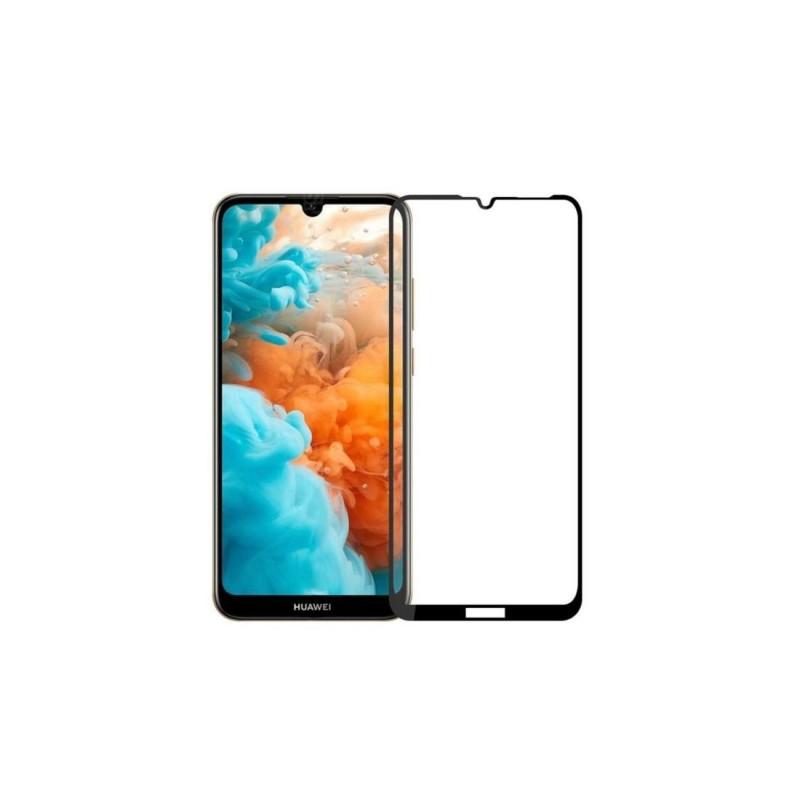 Huawei Y6 - 2019 5D edge to edge üveglap - Fekete