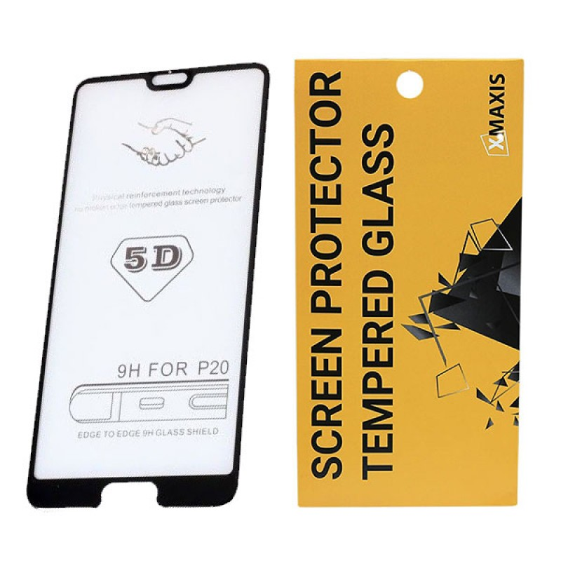 Huawei P20 Lite 2019 5D Edge to edge üveglap - Fekete