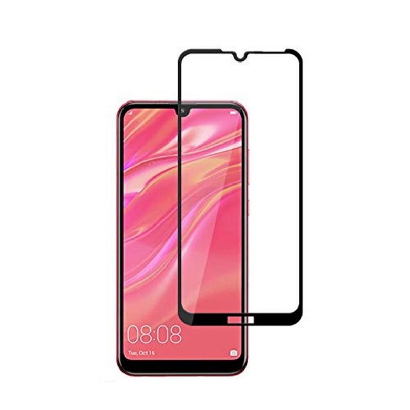 Huawei Y7 - 2019 5D edge to edge üveglap - Fekete