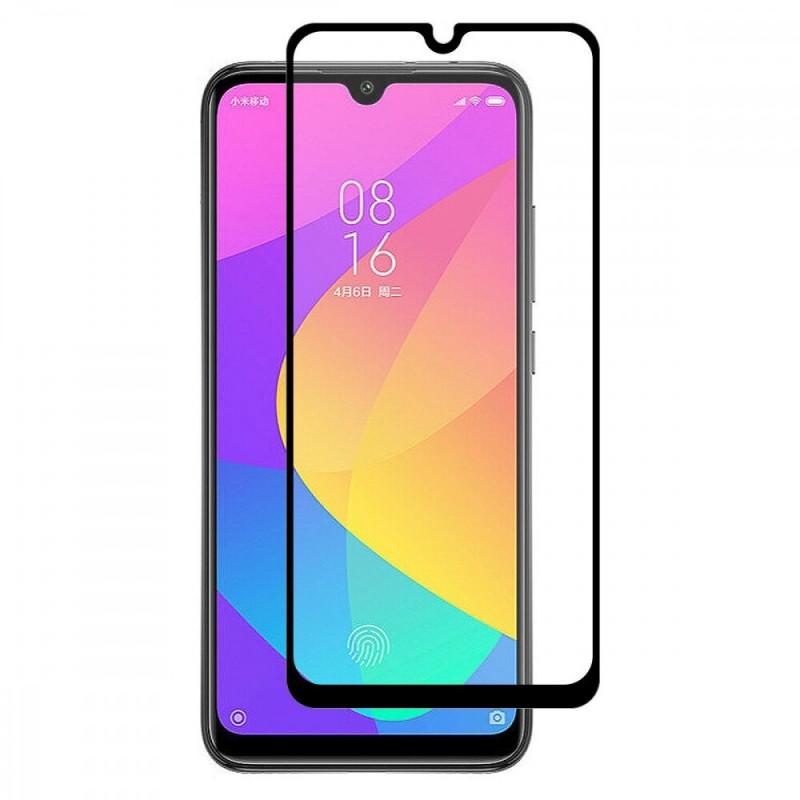 Xiaomi Mi A3 edge to edge üvegfólia - Fekete