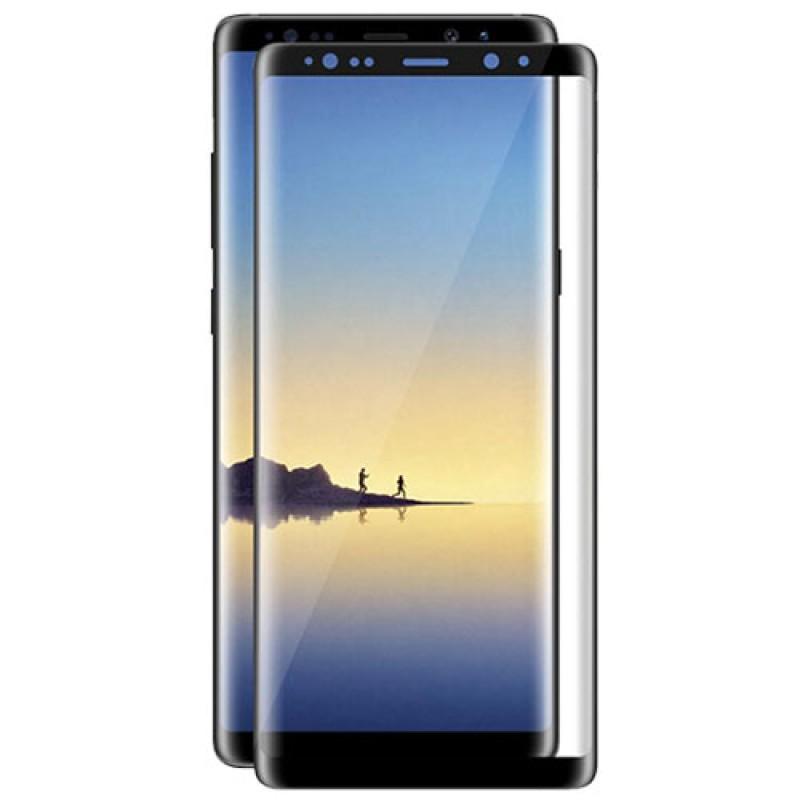 Samsung Galaxy Note 8 - Full Glue kijelzővédő üveglap - Fekete