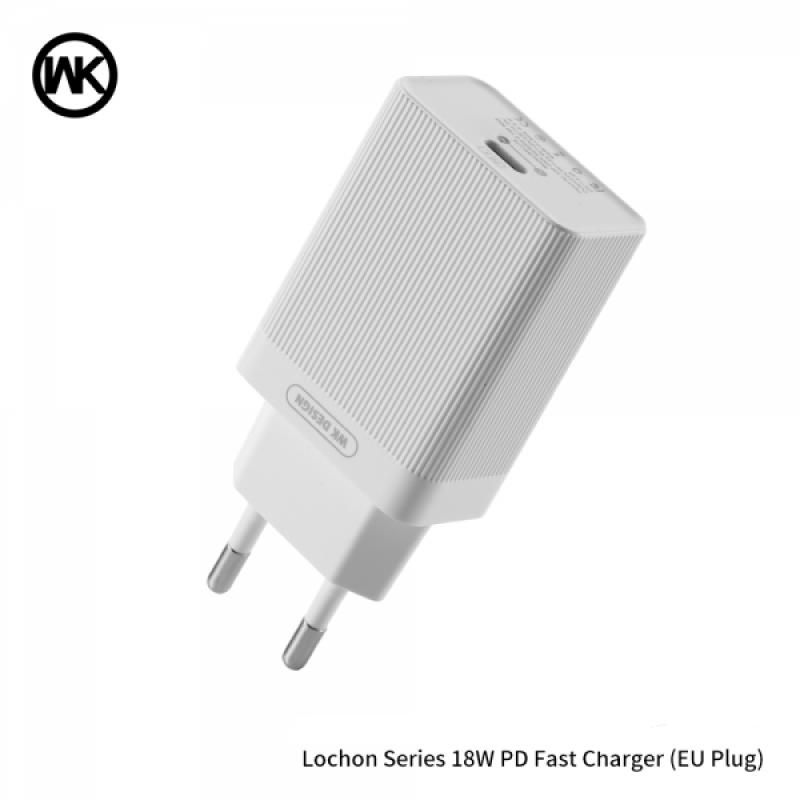 Lochon hálózati USB-C töltő PD 18W WP-U76 WK - Fehér